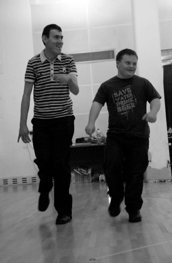 2 participants of drama workshop