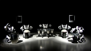 Picture of Robosapiens playing drums