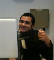 Michael at his desk
