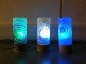 Some of the finished lamps