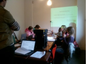 A photo of the young people on the Young Artist Development Programme