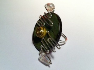 A piece of jewllery by monique  - one of the young artists